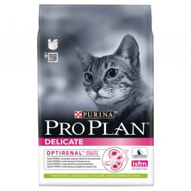 Pro Plan - Croquettes OPTIRENAL Delicate Agneau pour Chat - 3Kg