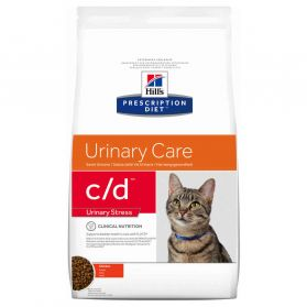 Hill's Prescription Diet - Croquettes C/D Urinary Stress Poulet pour Chat - 4Kg