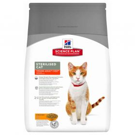 Hill's Science Plan - Croquettes Sterilised Young Adult Poulet pour Chat - 3,5Kg