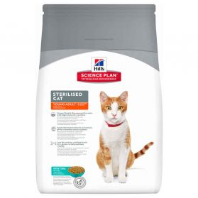 Hill's Science Plan - Croquettes Sterilised Young Adult Thon pour Chat - 3,5Kg