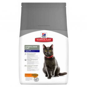 Hill's Science Plan - Croquettes Sterilised Mature 7+ Poulet pour Chat - 3,5Kg