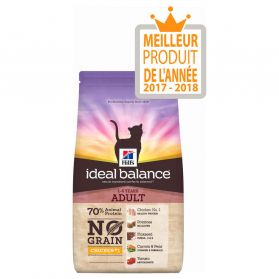 Hill's - Croquettes Ideal Balance No Grain au Poulet pour Chats - 1,5Kg