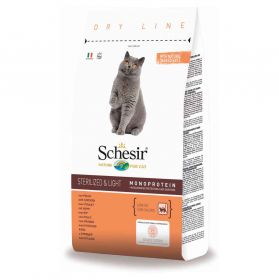 Schesir - Croquettes Sterilized & Light au Poulet pour Chat - 10Kg