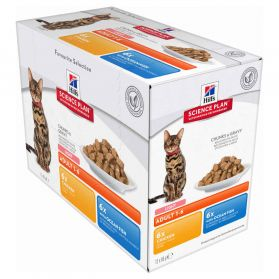 Hill's Science Plan - Sachets Light Multipack pour Chat - 12x85g