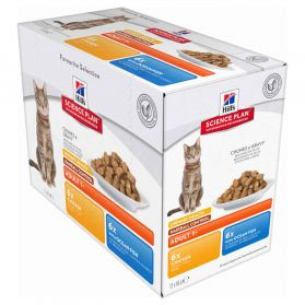 Hill's Science Plan - Bouchées en Sauce Urinary & Hairball au Poulet pour Chat - 12x85g