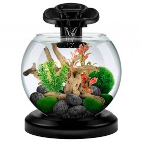 Tetra - Aquarium Duo Waterfall Globe de 6,8L - Noir