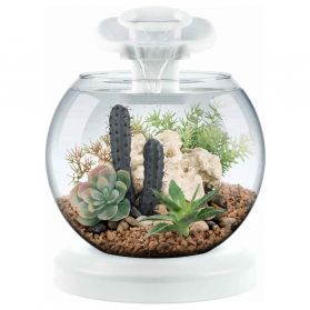 Tetra - Aquarium Duo Waterfall Globe de 6,8L - Blanc