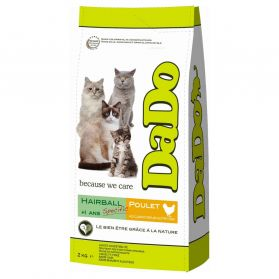 Dado - Croquettes Hairball Poulet Chat - 2Kg