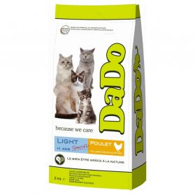 Dado - Croquettes Light Poulet Chat - 2Kg