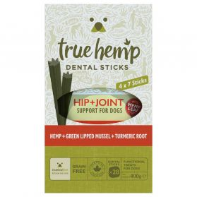 True Hemp - Multi Box Barres Dentaires Hip + Joint pour Chien - x28