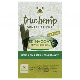 True Hemp - Multi Box Barres Dentaires Skin + Coat pour Chien - x28