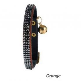 Bobby - Collier Chat Cristal Princesse orange