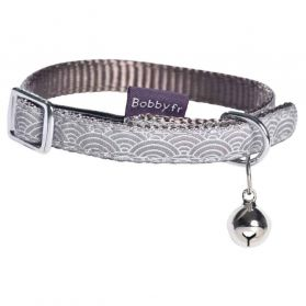 Bobby - Collier Chat Seigaiha taupe XS