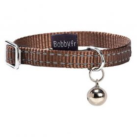 Bobby - Collier Chat Safe marron 10