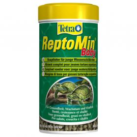 Tetra - Aliment Complet ReptoMin Baby en Mini-sticks pour Tortues d'Eau - 250ml