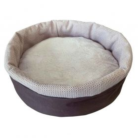 Topzoo - Corbeille Ronde Laura Beige pour Chat