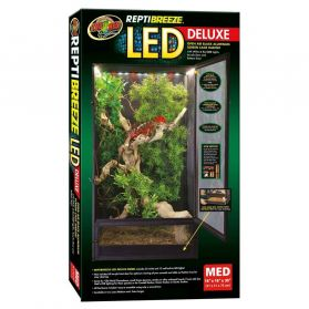 Zoomed - Terrarium ReptiBreeze LED Deluxe - M