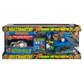 Zoomed - Terrarium ReptiHabitat Kit Tortues Aquatiques - 76x30x30cm