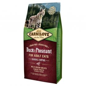 Carnilove - Croquettes Hairball Canard et Faisan pour Chat