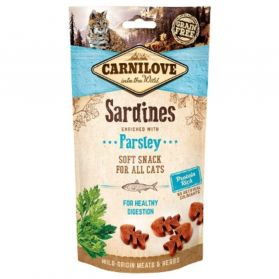 Carnilove - Friandises Semi-humide Sardines et Persil pour Chat - 50g