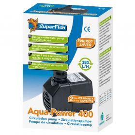 Superfish - Pompe à Eau Aqua-Power pour Aquarium - 400 L/H