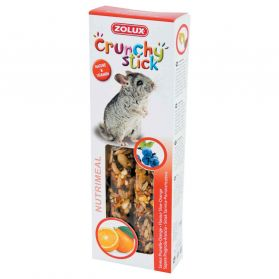 Zolux - Friandises Crunchy Stick Prunelle et Orange pour Chinchilla - 115g