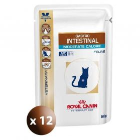 Royal Canin - Sachets Veterinary Diet Gastro Intestinal Moderate Calorie pour Chat - 12x100g