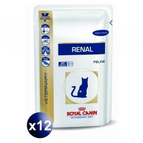 Royal Canin - Sachets Veterinary Diet Renal au Poulet pour Chat- 12x85g