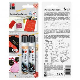 Marabu - Set Metallic Liner - 2x25ml