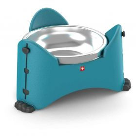 Rotho Mypet - Gamelle Ajustable MyPet Turquoise pour Chien - 850ml