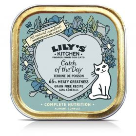 Lily's Kitchen - Barquette Terrine de Poisson pour Chats - 85g