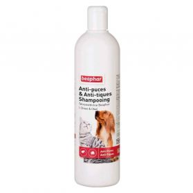 Beaphar - Shampoing Antiparasitaire pour Chiens et Chats - 500ml
