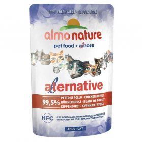 Almo Nature - Pochon Alternative Bouillon au Blanc de Poulet pour Chat - 55g