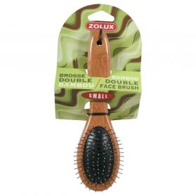 Zolux - Brosse Double Bambou pour Chiens - S