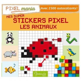 Grenouille Editions - Mes Super Stickers Pixel, Les Animaux