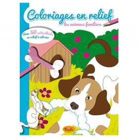 Piccolia - Coloriages en relief : Les animaux familiers