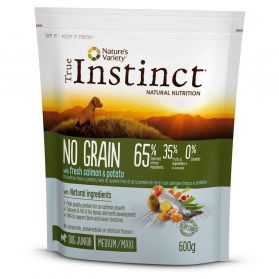 True Instinct - Croquettes No Grain Medium/Maxi au Saumon pour Chien - 600g