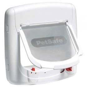 PetSafe - Porte StayWell Magnétique Luxe 400SGIFD pour Chat - Blanc