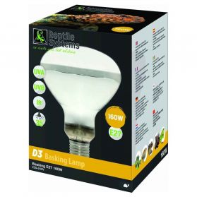 Reptile Systems - Lampe Basking D3 E27 pour Reptiles - 160W