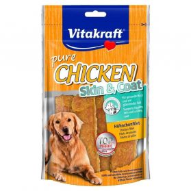Vitakraft - Friandises Pure Chicken Skin & Coat pour Chiens - 70g