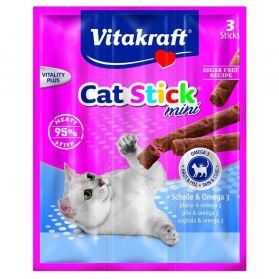 Vitakraft - Friandises Cat Stick Mini au Carrelet pour Chats - x3