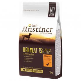 True Instinct - Croquettes High Meat Medium Maxi Adult pour Chien - 12Kg