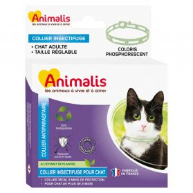 Animalis - Collier Antiparasitaire Phosphorescent pour Chat - 35cm