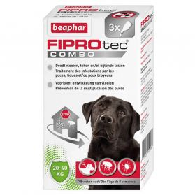 Beaphar - Pipettes Anti-tiques Fiprotec Combo pour Grand Chien - x3