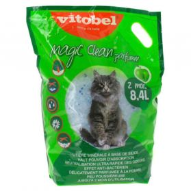 Vitobel - Litière Magic Clean Parfumée pour Chat - 8,4L