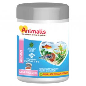 Animalis - Aliments Mini Flocons pour Alevins - 50ml