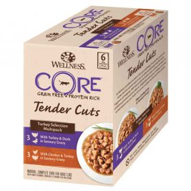Wellness CORE - Multipack Tenders Cuts à la Dinde pour Chat - 510g