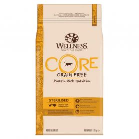 Wellness CORE - Croquettes Sterilised Poulet et Dinde pour Chat - 1,75Kg