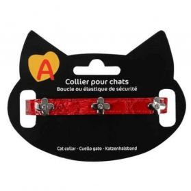 Animalis - Collier Fantaisie Semi pour Chat - Rouge