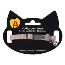Animalis - Collier Basic pour Chat - Beige